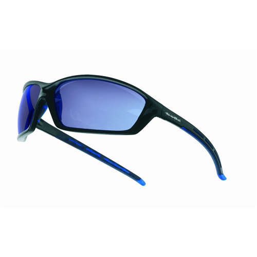 Bolle SOLIS Safety Glasses 40064 Black/Gray Blue Mirror