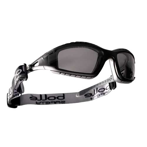 Bolle TRACKER Safety Glasses 40086 Black/Gray Smoke