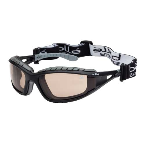 Bolle TRACKER Safety Glasses 40088 Black/Gray Twilight