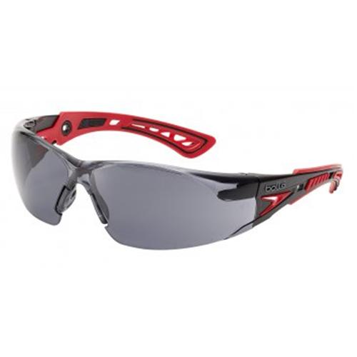 Bolle RUSH Safety Glasses 40208 Black/Gray Smoke