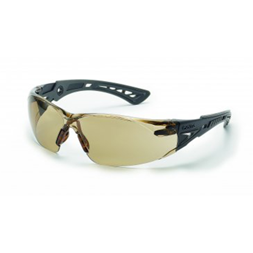 Bolle RUSH Safety Glasses 40209 Black/Gray CSP