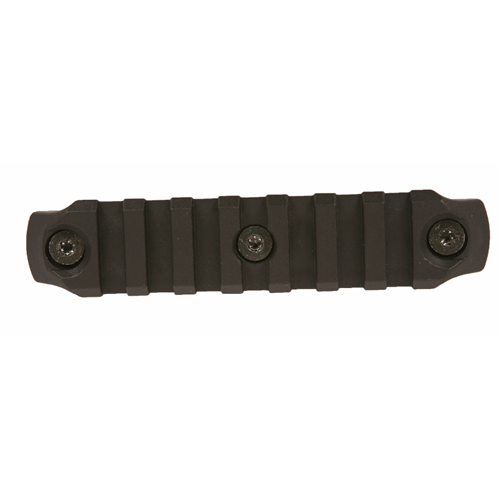 Bravo Company USA KeyMod Picatinny Nylon Rail Section BCM-KMR-1913-N4-BLK Black 4in.