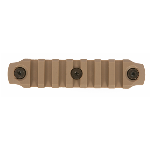 Bravo Company USA KeyMod Picatinny Nylon Rail Section BCM-KMR-1913-N4-FDE Flat Dark Earth 4in.