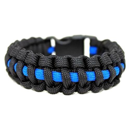 Echo Tactical Thin Blue Line 550 Paracord Survival Bracelet E1-PCB550