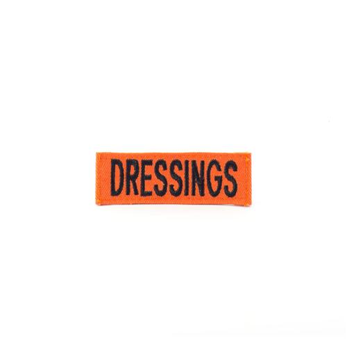 Eleven 10 DRESSING Name Tape E10-9020-DRE-ORG