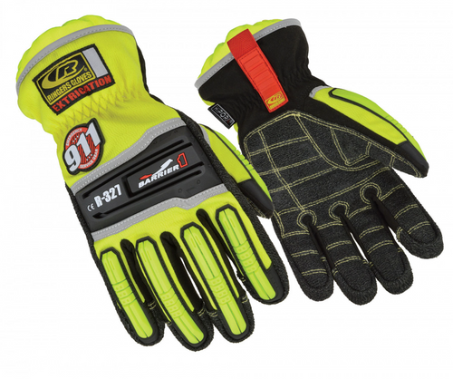 Ringers Gloves Extrication Barrier One Glove 327-12 Hi-Viz Yellow 2X-Large
