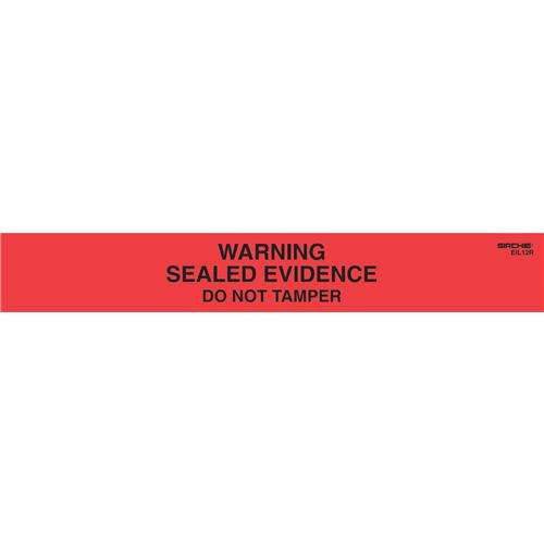 Sirchie Sealed Evidence Seals Warning! EIL12R