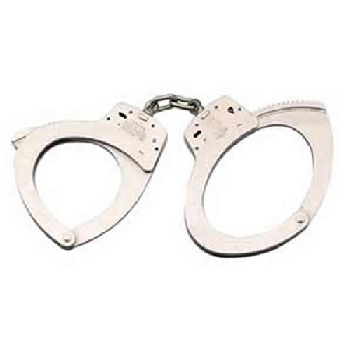 Smith & Wesson Model 110 Special Security Chain-Linked Handcuffs 350118 Nickel