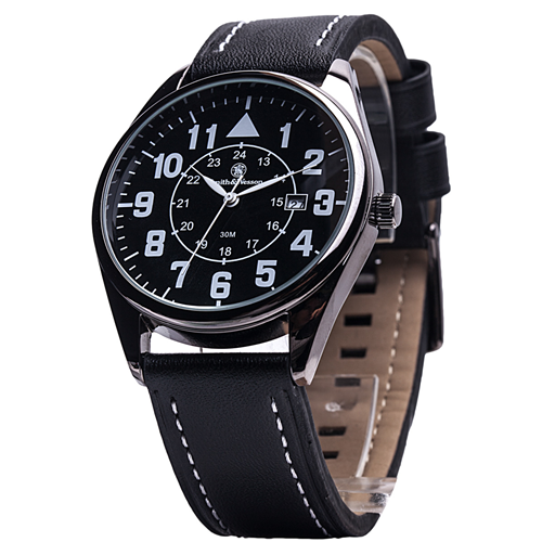 Smith & Wesson Civilian Watch with Leather Strap SWW-6063