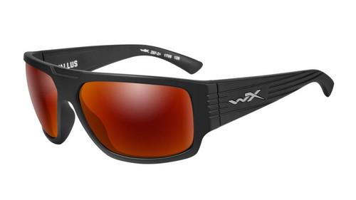 Wiley X WX Vallus ACVLS05 Matte Black Crimson Mirror