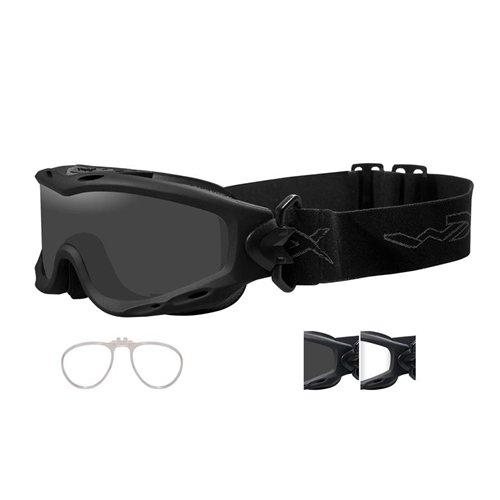 Wiley X Spear Goggle SP29BRX Black Smoke/Clear Yes