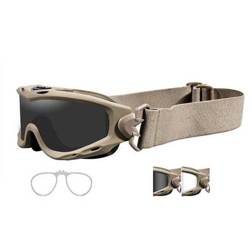 Wiley X Spear Goggle SP29TRX Tan Smoke/Clear Yes