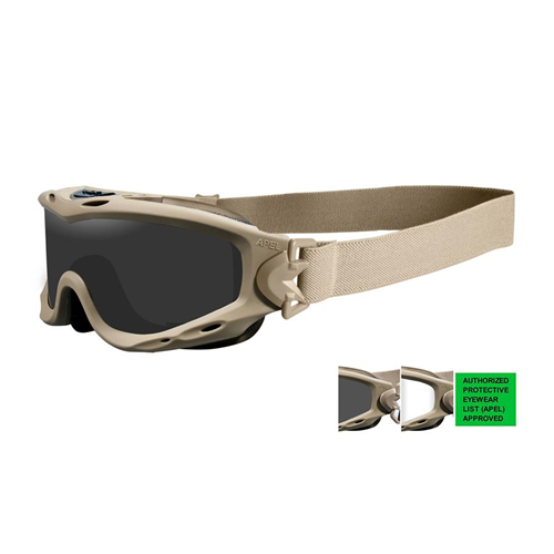 Wiley X Spear Goggle SP30T Clear/Tan Smoke/Clear