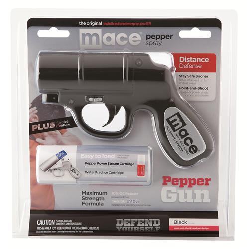 MACE Pepper Gun w/Strobe Led 80405