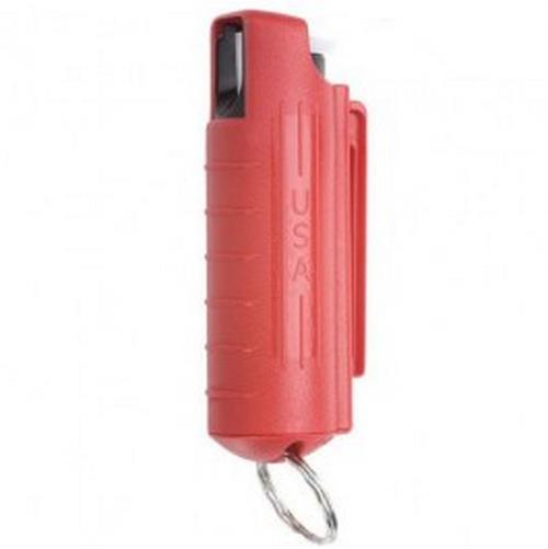 Sabre Key Case Pepper Spray w/ Quick Rel. Key Ring HC-14-RD Red 0.5% MC .5 oz