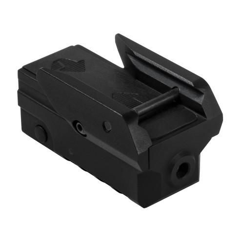 NcStar Compact Green Laser Sight for Pistol with Strobe Black VAPRLSMCG