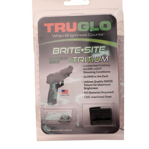 Truglo Brite-Site Tritium Handgun Sight Set S&W M&P SD9 SD40 Green TG231MP