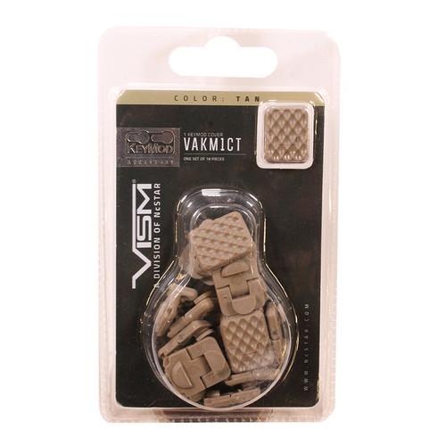 NcStar Keymod Anti-Slip Covers 18-Pack Tan VAKM1CT