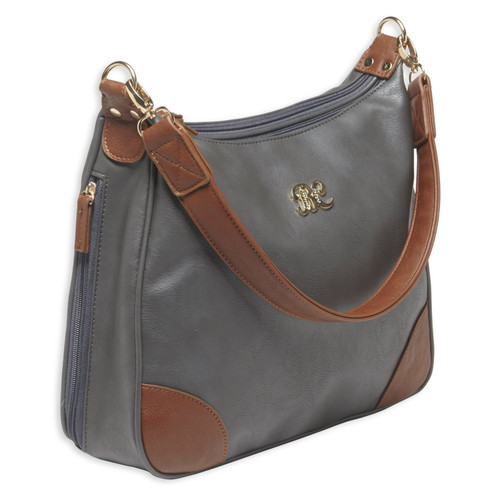 Bulldog Cases Hobo Style Purse w/ Holster Gray with Tan Trim BDP-018