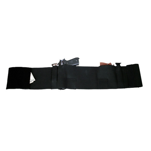 Bulldog Cases Deluxe Belly Wrap Holster XL 42in - 46in Elastic/Velcro Black WBWD-XL