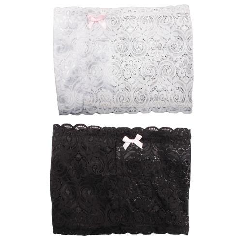 Bulldog Cases Large Thigh Holster w/ Garter Straps 2-Pack Black & White BD894