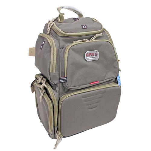 G Outdoors Handgunner Backpack w/ Cradle for 4 Handguns Rifle Green/Khaki GPS-1711BPRK