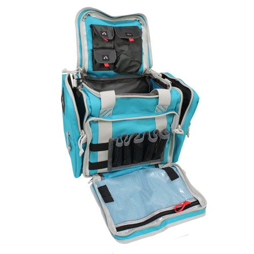 G Outdoors Medium Range Bag w/ Lift Ports & 2 Ammo Robin Egg Blue GPS-1411MRBRB