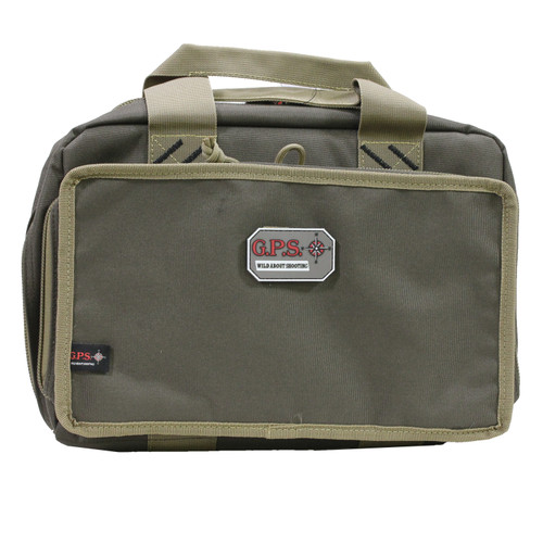 G Outdoors Quad Pistol Range Bag Rifle Green/Khaki GPS-1310PCRK