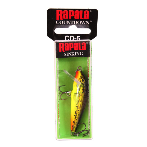 Rapala CountDown Lure Size 05 -  2in. Fire Minnow CD05FMN