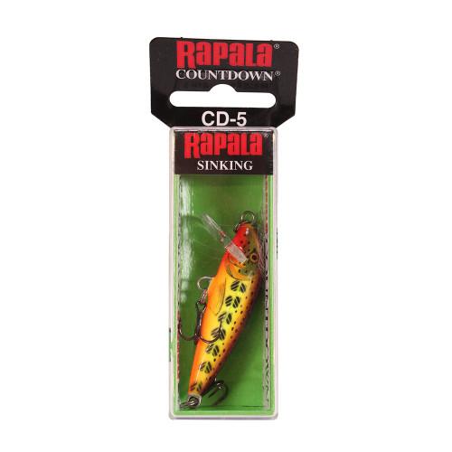 Rapala CountDown Lure Size 05 -  2in. Hot Mustard Muddler CD05HMMD