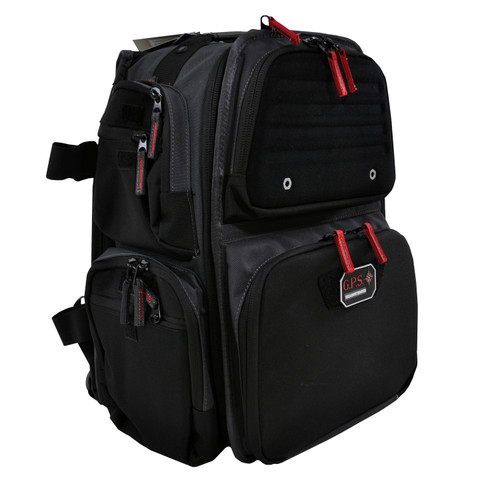 G Outdoors Executive Backpack w/ Cradle for 5 Handguns Gray GPS-1812BPG