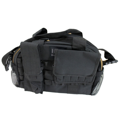 Bulldog Cases Tactical Range Bag w/ MOLLE Mag Pouches Black BDT940B