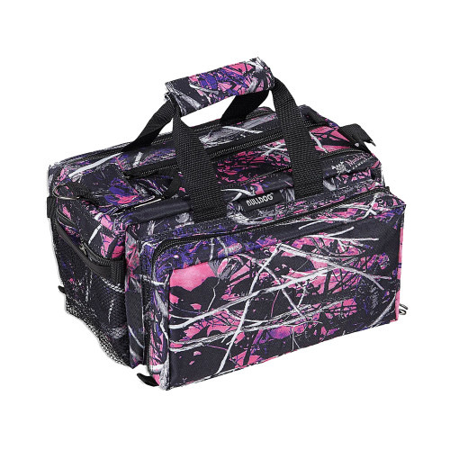 Bulldog Cases Deluxe Muddy Girl Range Bag w/ Strap Pink Camo & Black BD910MDG