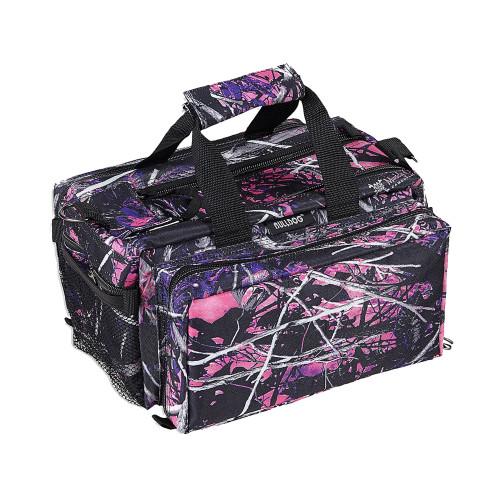 Bulldog Cases Deluxe Muddy Girl Range Bag w/ Strap Pink Camo & Black BD910MDG