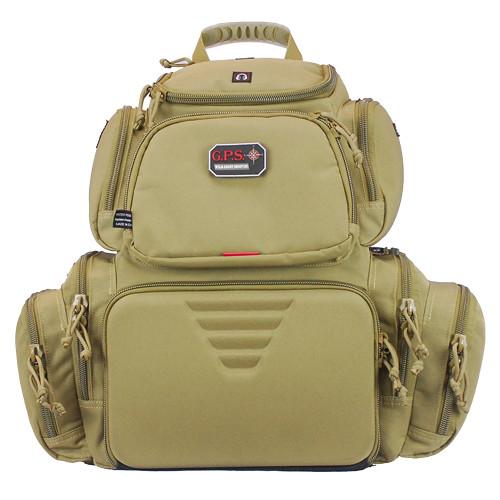 G Outdoors Handgunner Backpack Tan GPS-1711BPT