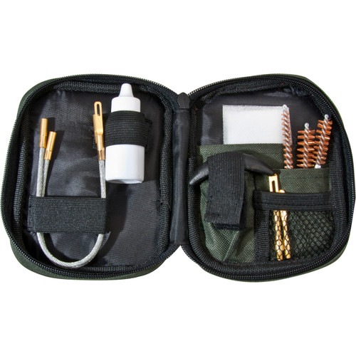 Barska Optics 11-Piece Pistol Cleaning Kit with Flexible Rod & Pouch AW11964