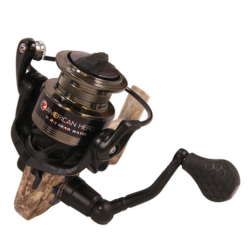 Lew's Fishing American Hero Camo Speed Spinning Reel Ambidextrous AHC200C