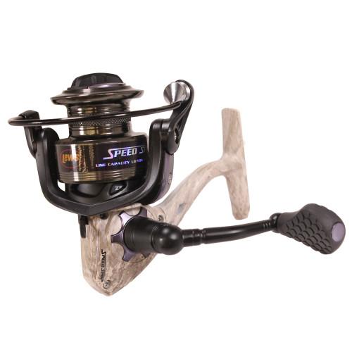 Lews Fishing American Hero Camo Speed Spinning Reel 6.2:1 Gear Ambidex. AHC300