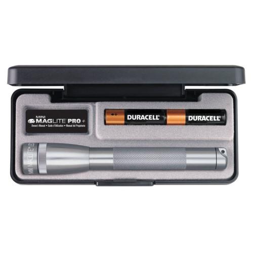 Maglite LED Mini Maglite 2-Cell AA Pro+ Flashlight Presentation Box Gray SP+P097