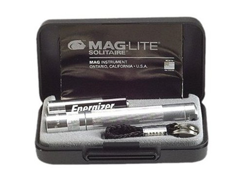 Maglite Mag-Lite Solitaire Flashlight Presentation Box Silver K3A102