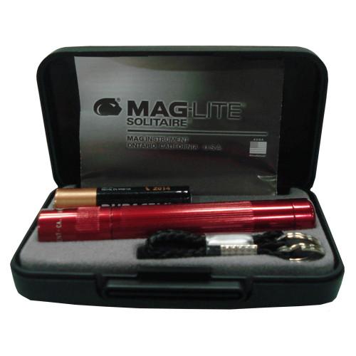 Maglite AAA Solitair Flashlight Presentation Dk Red K3A032