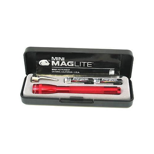 Maglite AAA Mini Mag Flashlight Present-Battery Dark Red M3A032