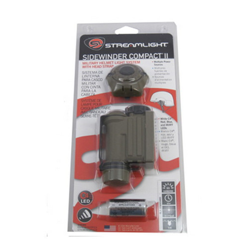 Streamlight Sidewinder Compact II Flashlight Helmet Mount Cr123A Bx 14514