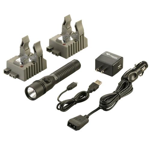 Streamlight Strion DS Flashlight IEC Type A (120v)AC/12V DC-2hldr 74412