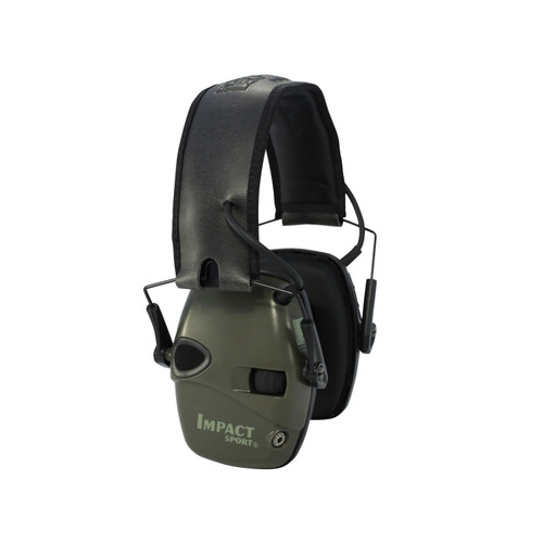 Howard Leight Impact Sport Electric Earmuff OD Green R-01526