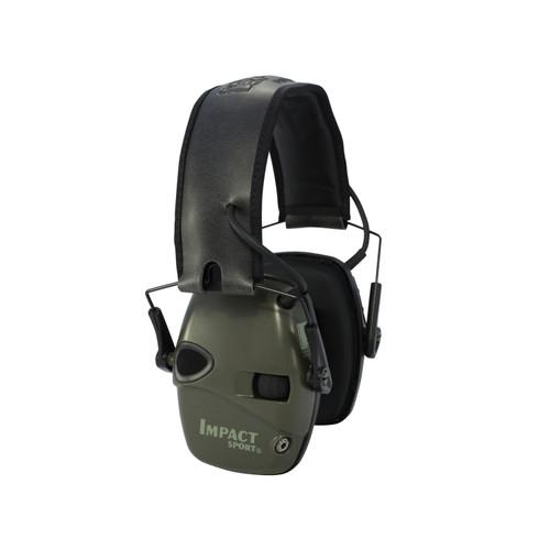 Howard Leight Impact Sport Electric Earmuff OD Green R-01526