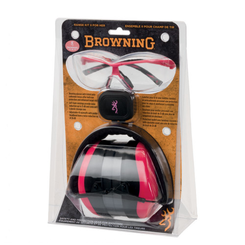 Browning Range Kit II For Her Hear Pro Pink 126373