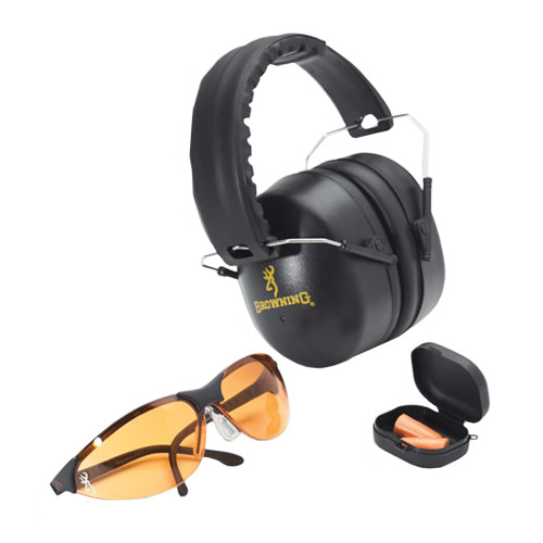 Browning Range Kit with Shooting Glasses Ear Muffs & Ear Plugs 126368