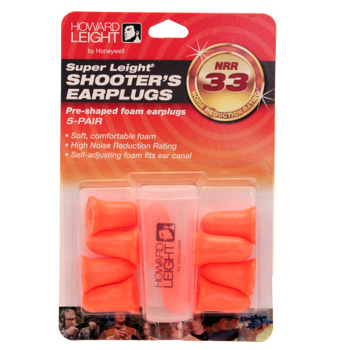 Howard Leight Super Leight Pre-Shaped Foam Ear Plugs 5 Pair  R-84133