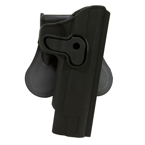 Bulldog Cases Rapid Release Polymer Holster with Paddle 1911 Style Autos Right Hand Black RR-1911